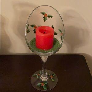 NIB Christmas Candleholder